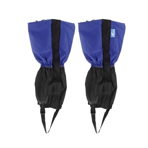 Открытый водонепроницаемый ветрозащитный гетры ноги защиты гвардии лыжные походы скальные синий