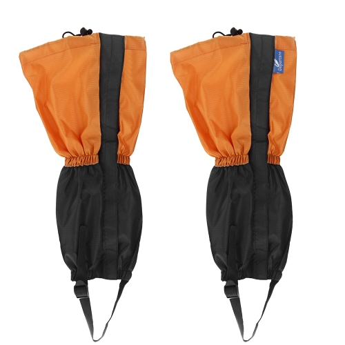 Image For Outdoor Waterproof Windproof Gaiters Leg Protection Guard Skiing Hiking Climbing Orange