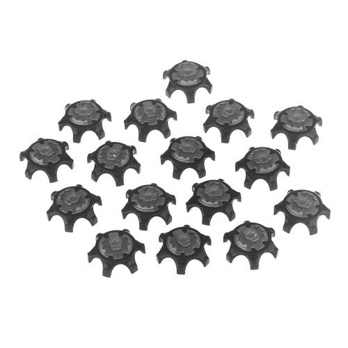 16Pcs Black Easy Replacement Spikes Ultra Thin Cleats for Golf Shoes H11658