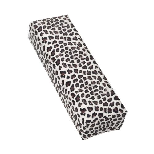 Nail Art Werkzeug Rechteck Leder Pad Salon Hand Halter Spalte Kissen Kissen Arm Rest Maniküre Tool Leopard Print weiss