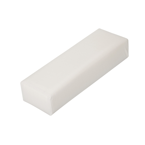 Nail Art Tool Rectangle Leather Pad Salon Hand Holder Column Cushion Pillow Arm Rest Manicure Tool White