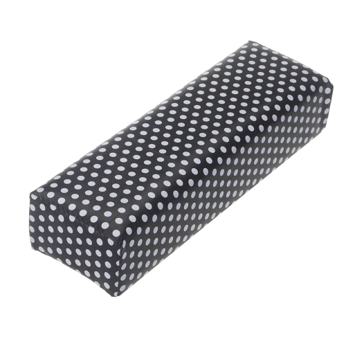 Nail Art Werkzeug Rechteck Leder Pad Salon Hand Halter Spalte Kissen Kissen Arm Rest Maniküre-Tool Polka Dot Muster schwarz