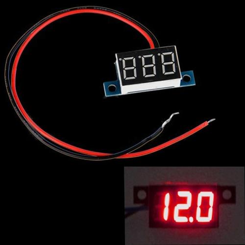 Mini 2 Wires DC 3.3-30V LED Panel Digital Display Voltage Meter Voltmeter Red Light