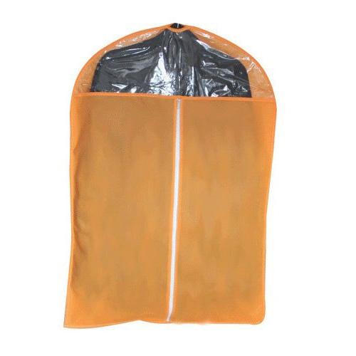 Нетканое полотно для хранения одежды защитный протектор мешок с полупрозрачным верхом для костюм платье одежда пылезащитный средний размер оранжевый