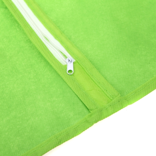 Non-woven Fabric Storage Garment Cover Protector Bag with Translucent Top for Suit Dress Clothes Dustproof Medium Size Green