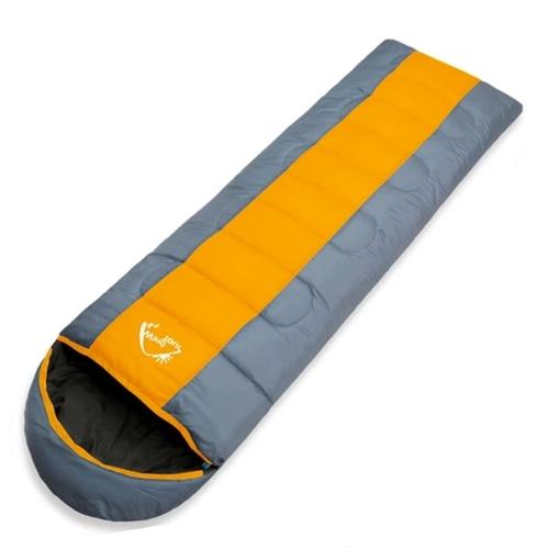 Vento Tour Adulto termico Sacco a pelo Autunno Inverno busta con cappuccio corsa esterna di campeggio Resistente all'acqua spesso 1.3kg Arancione