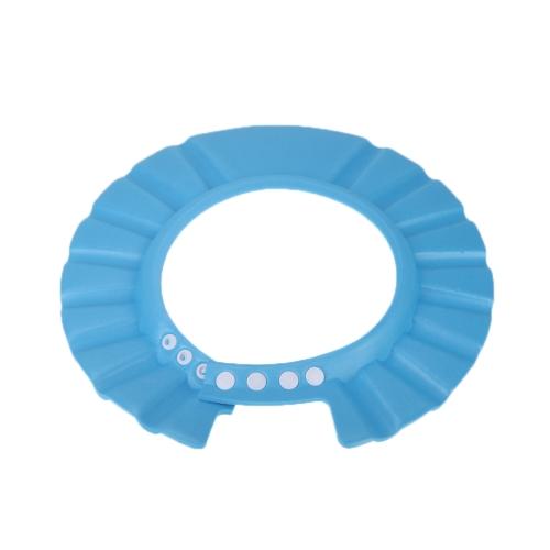 Kids Shampoo Bathing Cap Soft Adjustable Hair Shield Hat Blue