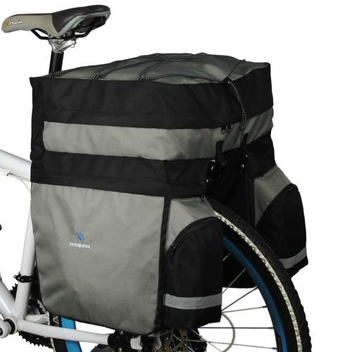 ROSWHEEL 60L Cycling Bicycle Bag Bike Double Side Rear Rack Tail Seat Trunk Bag Pannier