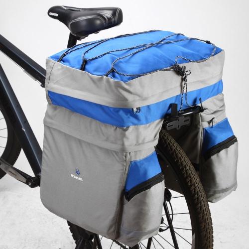 ROSWHEEL 60L ciclismo bicicletta borsa bici doppio lato posteriore coda sedile tronco borsa portapacchi