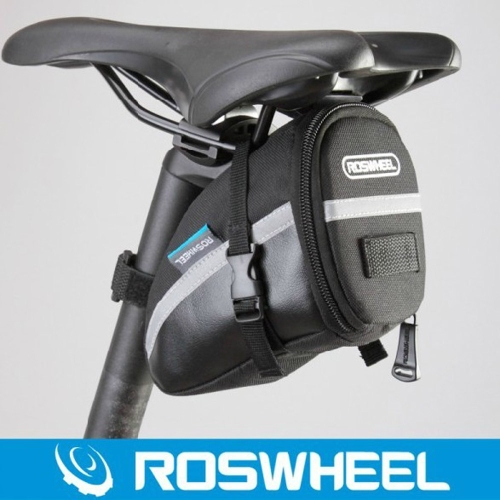 ROSWHEEL Ciclismo bicicleta bici tija bolsa bolsa asiento sillín trasero cola paquete negro al aire libre