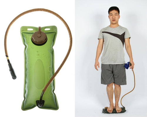 2.5 L ispessimento EVA idratazione vescica sacchetto di acqua per sport ciclismo escursioni campeggio arrampicata bicicletta verde militare portatile