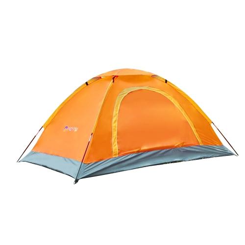 Tenda da campeggio per 2 persone impermeabile resistente ai raggi UV all'aperto sulla spiaggia viaggio portatile arancione