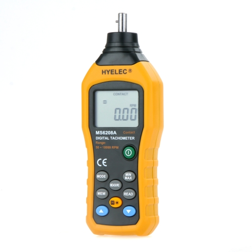 HYELEC MS6208A Contact-type Digital Tachometer