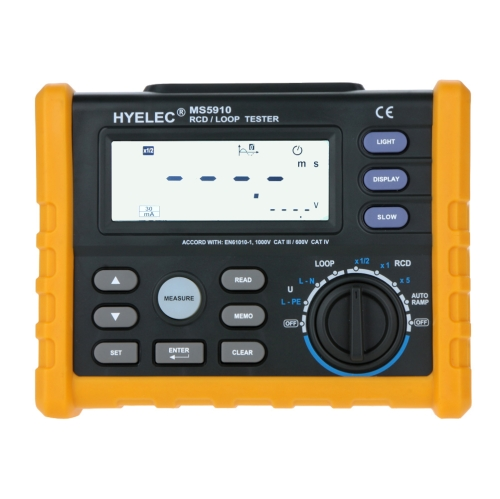 HYELEC MS5910 RCD/LOOP Tester Circuit \ Professional Digital 0-440V AC Voltage 500mA Meter
