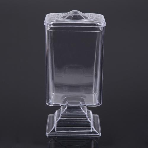 Caja del cojín algodón maquillaje uñas arte Remover papel paño estuche contenedor almacenamiento transparente