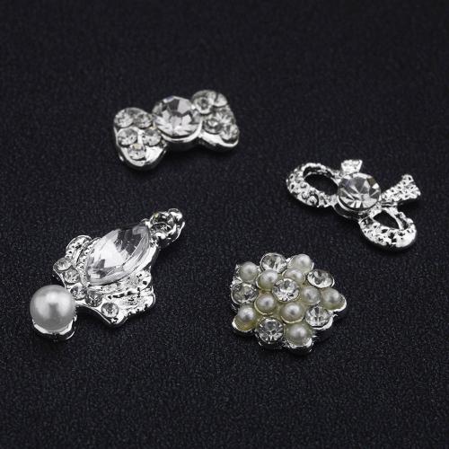 40Pcs DIY Metal 3D Nail Art Tip Decoration Mix Color & Pattern Fashion Luxury Charm Jewelry Tools