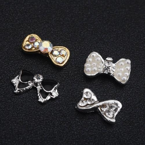 40Pcs DIY  Métal 3D décoration d'art d'ongle maquillage Couleur Mix & Motif Charm luxe de bijoux à la mode Outils