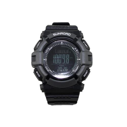 Sunroad FR821B 3ATM impermeabile l'altimetro bussola cronometro pesca barometro pedometro Sport Outdoor orologio multifunzione