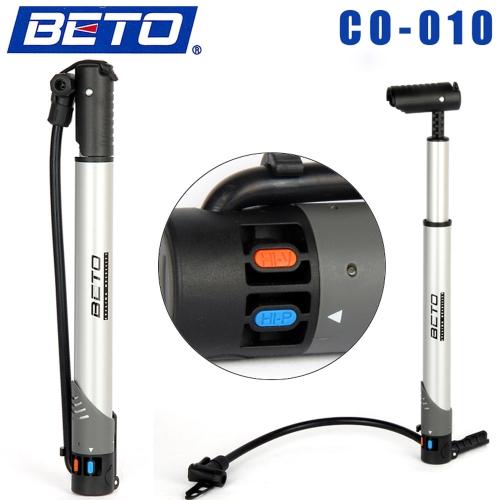 BETO CO-010 aluminio aleación Mini portátil Ciclismo bicicleta bici inflador bomba de aire piso tipo del neumático