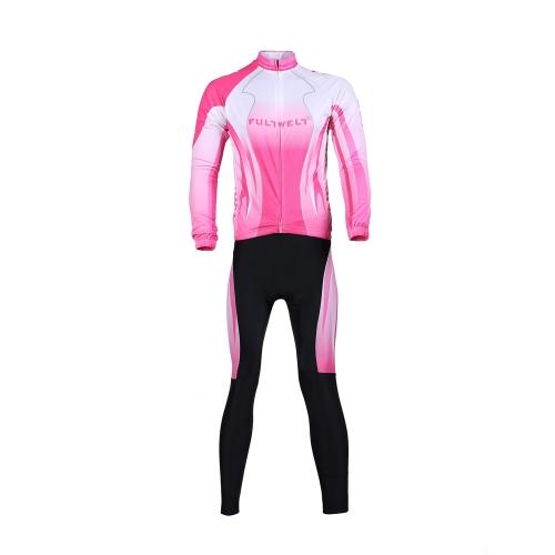 Велоспорт одежда набор спортивной велосипедов велосипед открытый длинные Джерси + длинные брюки дышащий женщин