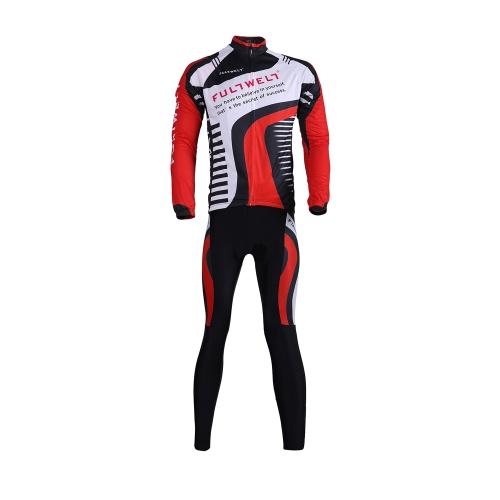 サイクリング服セット スポーツウェア自転車自転車屋外長袖ジャージ + 長パンツ通気性のある男性