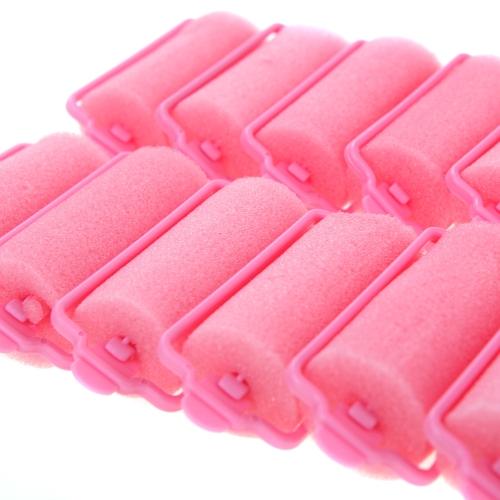 Anself 12st magische Schwamm Schaumstoff Kissen Haar Styling Rollers Lockenwickler Twist Werkzeug Salon Rosa