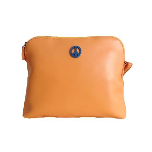 As mulheres Korean Lady sacos bonitos PU couro cor dos doces Messenger Crossbody ombro sacos de laranja