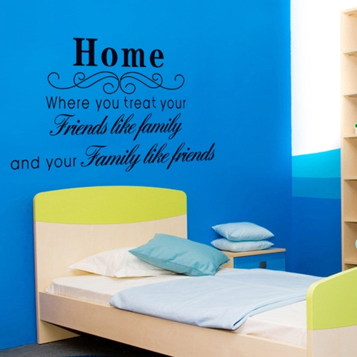 Home English Letter Removable Wall Stickers Art Decals Mural DIY Wallpaper for Room Decal 60 * 90cm