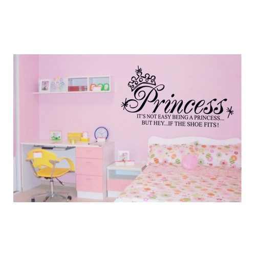 Princess Crown Carta Removible Pared Pegatinas Arte Decoracion Mural