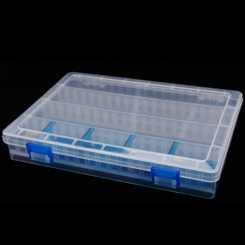 25*18*4cm 透明 フィッシング タックルボックス  釣り具ボックス  ボックス  釣りルアーボックス 可動層間 釣りタックル  プラスチック