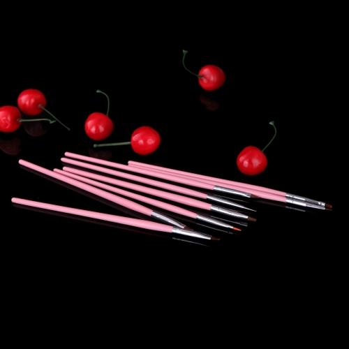 8 個入ネイル アート デザイン ツール ペン ポーランド ブラシ セット キット DIY 専門ピンクを塗る