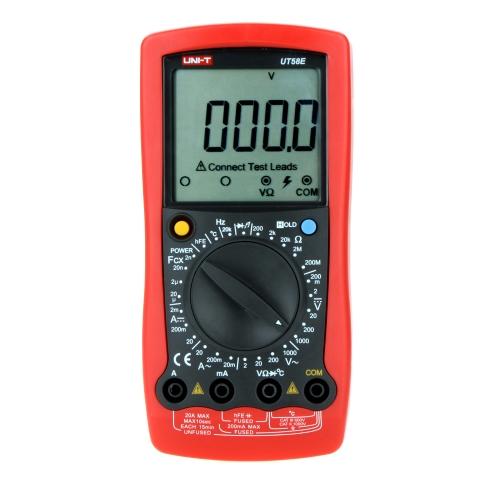 UNI-T UT58E Modern Manual Range Digital Multimeters w/  Frequency Temperature test