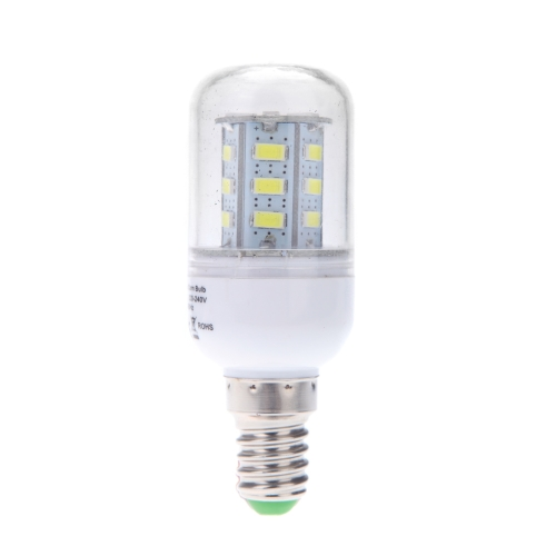 E14 5W 5730 SMD 24 LEDs Corn Light Lamp Bulb Energy Saving 360 Degree White 220-240V