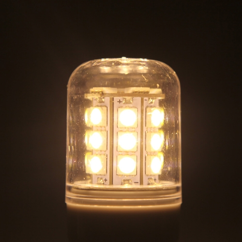 G9 5.5W 5050 SMD 27 LEDs Corn Light Lamp Bulb Energy Saving 360 Degree Stripe Cover Warm White 220-240V
