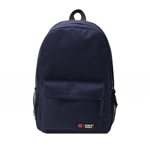 Casual mujeres mochila caramelo Color sólido escuela bolso bandolera azul oscuro que viaja
