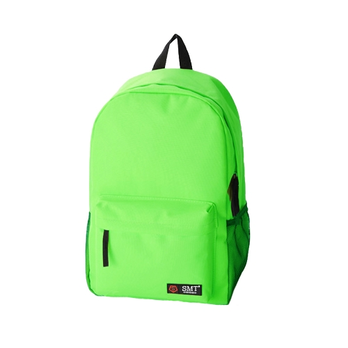 Casual Women Backpack Candy Color Solid School Bag Traveling Shoulder Bag Green