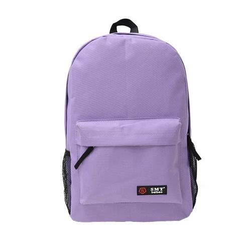 Casual mujeres mochila caramelo Color sólido escuela bolso bandolera luz violeta que viaja