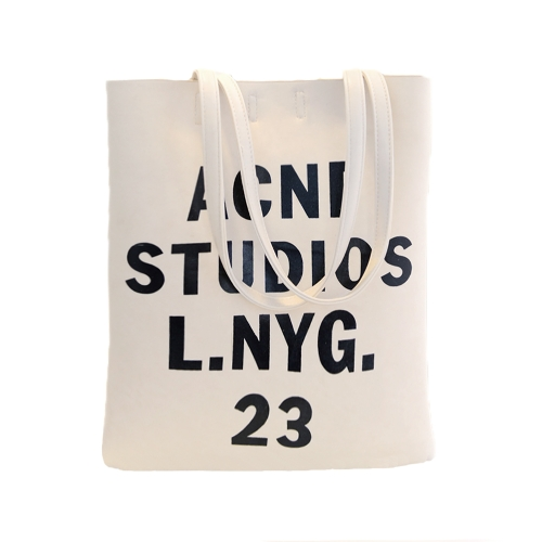 Nueva moda mujer bolsos Casual PU cuero carta impreso Vertical Bolsas colgables Beige