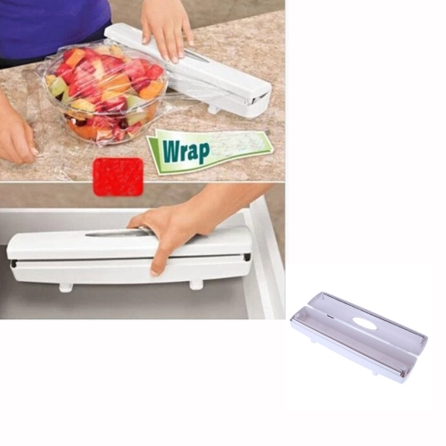 Food Plastic Wrap Dispenser Aluminum Foil Wax Paper Cutter