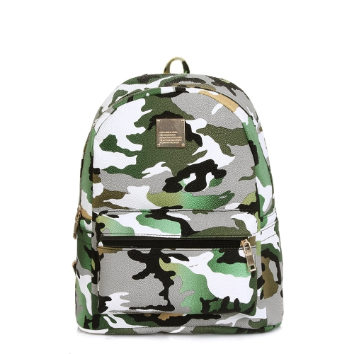 Nova moda mulheres mochilas camuflagem imprimir especial viagens ombro Schoolbags verde
