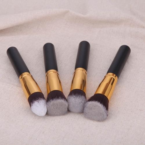 Набор 4шт деревянных профессиональных косметических кистей для макияжа