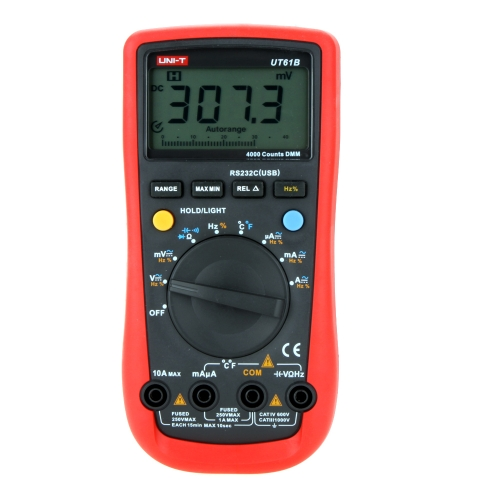 UNI-T UT61B Moderne AutoPower Off LCD Hintergrundbeleuchtung Digital Multimeter DMM W / Temperaturtest