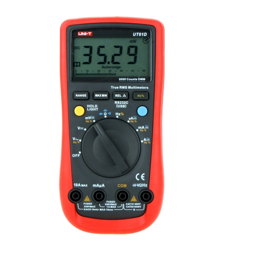 UNI-T UT61D Modern True RMS 6000 Counts Auto Range LCD Backlight DMM Digital Multimeters