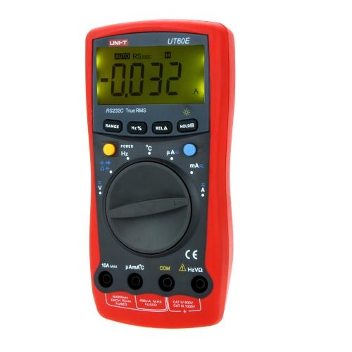 UNI-T UT60E Precise Light Weight RS-232C True RMS DMM Digital Multimeters W/ Temperature Test