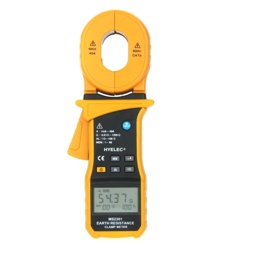 HYELEC MS2301 Earth Resistance Clamp Meter Tester