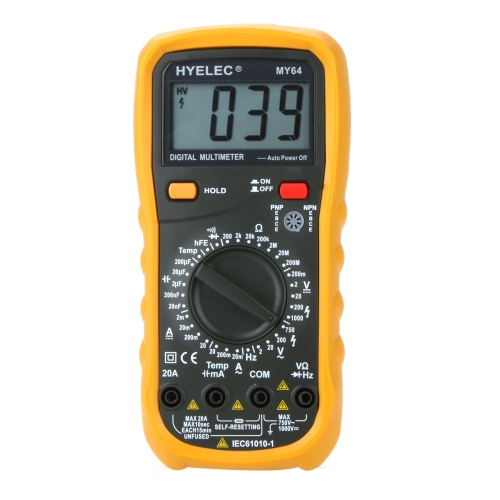 HYELEC MY64 DMM Digital Multimeter w/ Temperature Capacitance Frequency Test