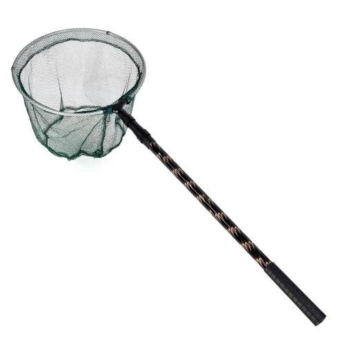 180cm Retractable Telescoping Aluminum Alloy Pole Foldable Fishing Brail Landing Net Tackle Image