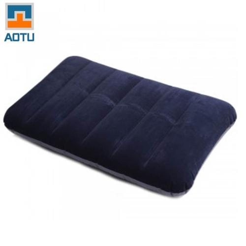 Флокирование надувная подушка подушка кемпинг поездки открытый офис плоскости отель Портативные складные темно-синий