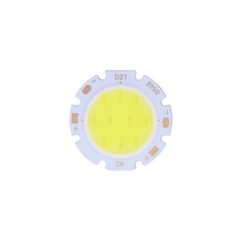 Раунд COB супер яркий светодиодный чип света лампа 5W белый DC15-17В
