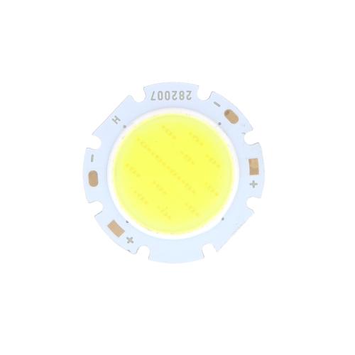 7W redondo COB Chip de LED Super brillante luz lámpara bombilla blanca DC16-24V